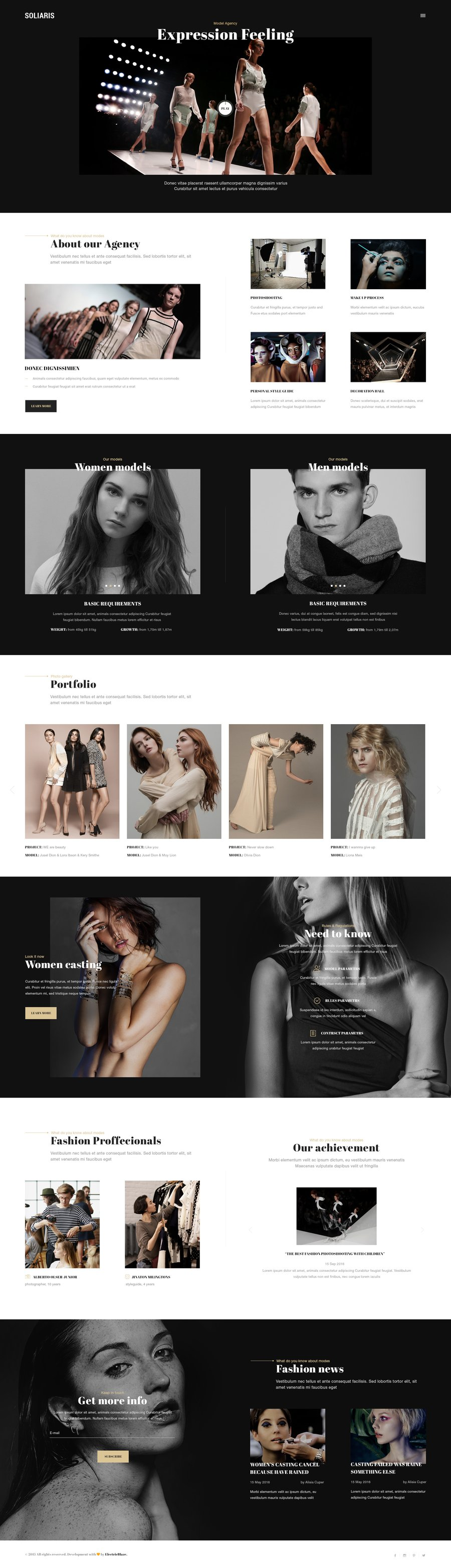 Soliaris – 18 One Page Bootstrap Templates